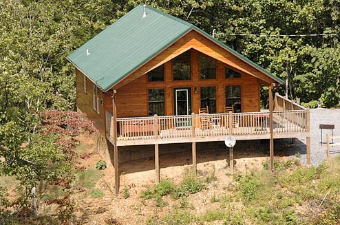 Exterior of Vacation Rental at Volunteer Cabin Rentals
