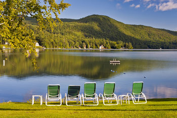 Relax by the lake at Lake Morey Resort.