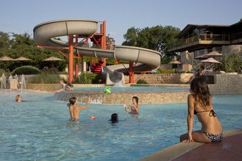 Family swimming at Lakeway Resort and Spa.