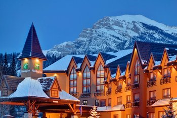 Exterior Night View at Holiday Inn Canmore