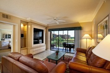 Living room view at Westgate Lakes Resort & Spa.