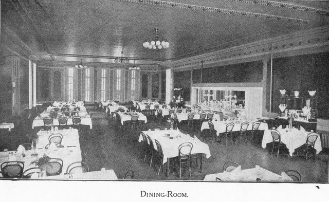 The hotel was a cancer hospital during the mid 1930's.  The Crystal Ballroom was transferred into a cafeteria for the patients and staff.
