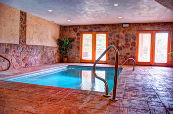 Cabin indoor pool at Elk Springs Resort.
