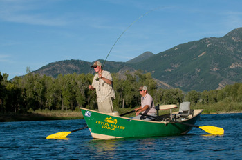 Fishing at Teton Valley Lodge.