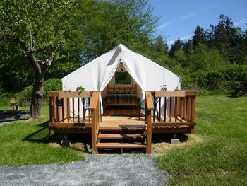 Cabin tent at West Beach Resort.