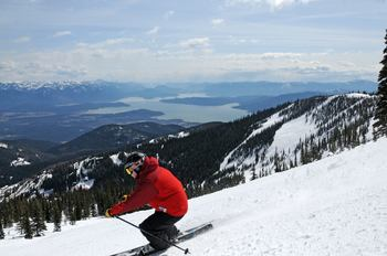 Skiing at Schweitzer Resort near The Lodge at Sandpoint.