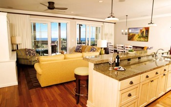 Rental home kitchen at Newman-Dailey Resort Properties, Inc.