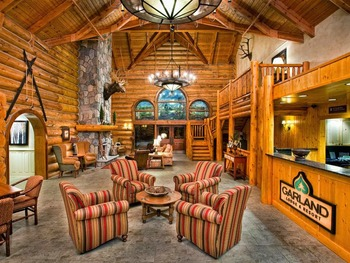 Lobby view at Garland Lodge & Resort.