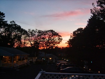 Sunset at The Drake Inn Hampton Bays.