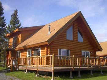 Cabin exterior at Ash Trail Lodge.