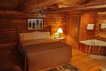 Cabin interior at Lindsey's Rainbow Resort.