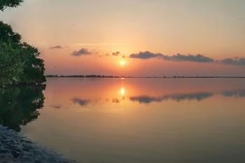 Sunset at Teeming Vacation Rentals.