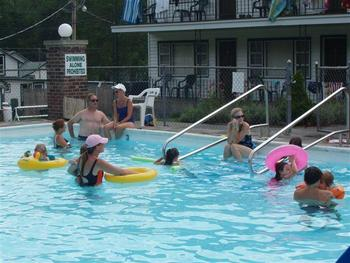 Pool fun at Baumann's Brookside Resort.
