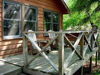 Deck view at Black Pine Beach Resort.