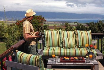 Outdoor patio at Lumeria Maui.