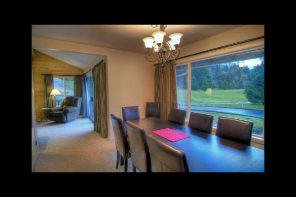 Condo dining room at Mt. Hood Resort Condominiums.
