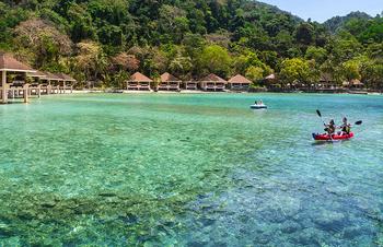 Exterior view of Lagen Island Resort.