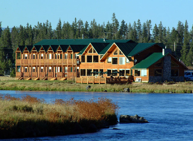 Exterior view of The Angler's Lodge.