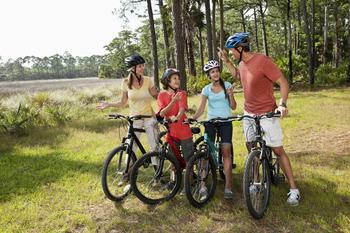 Bike riding at Crystal Springs Resort.