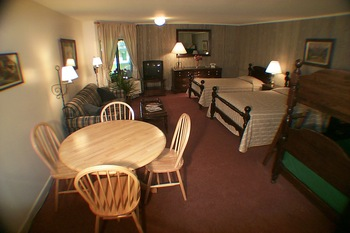 Spacious room at Northern Lights Lodge.