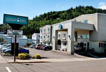 Exterior view of The Garibaldi House Inn & Suites.