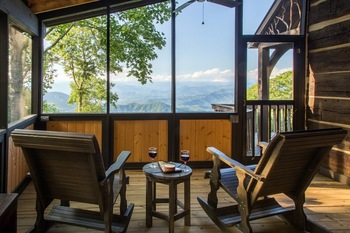Deck view at Smoky Mountain Getaways.