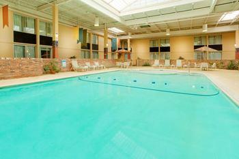 Indoor pool at Garden Plaza Hotel.