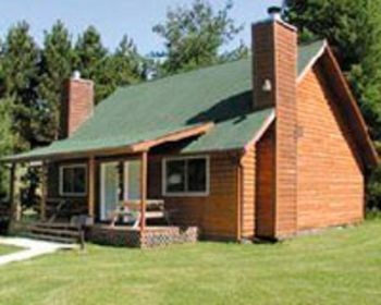 Exterior view of Duplex Cabin at Birchcliff Resort.