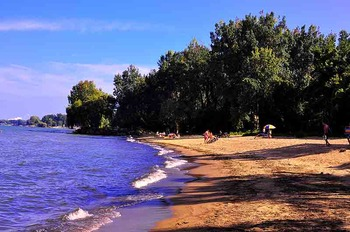 The beach at Sawmill Creek Resort.