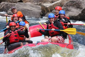 River rafting at Ampersand Bay Resort & Boat Club.