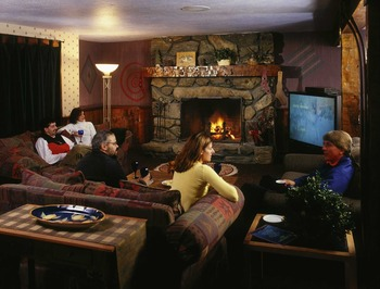 Lounge at The Mountain Inn.