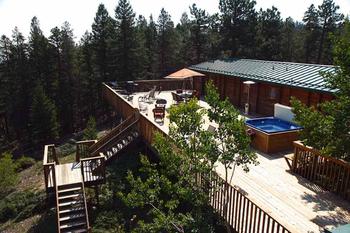 Deck view at Eldora Lodge.