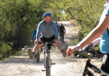 Biking at Canyon Ranch Tucson.