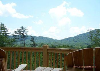 Vacation Rental w mountain view at Enchanted Mountain Retreats, Hot Tub, Fireplaces @ Blue Ridge, GA