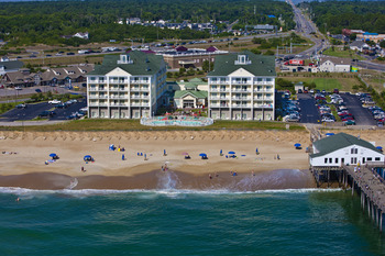 Arial view of Hilton Hilton Garden Inn Outer Banks.