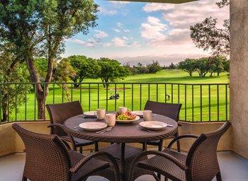 Balcony view at Paniolo Greens Resort.