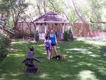 Pets welcome at Oak Creek Terrace Resort.