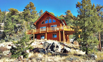 Cabin exterior at Range Property Management.