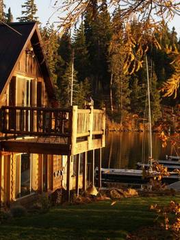 Cabin Exterior at The Lodge at Suttle Lake