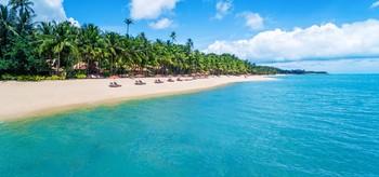The beach at Santiburi Resort.