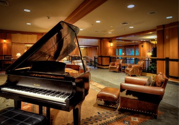 Grand piano at The Steamboat Grand.