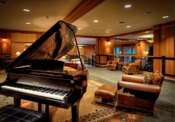 Grand piano at The Steamboat Grand.