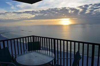 Beachfront balcony at Marco Island Rental Properties, Inc.