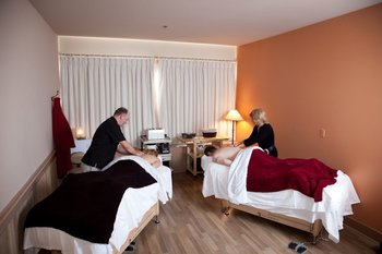 Couple's massage at Sun Mountain Lodge.