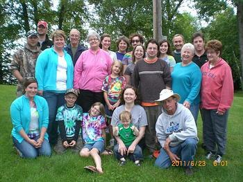Family reunion at Cedarwild Resort.
