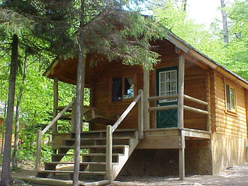 Cabin Exterior at Old Forge Camping Resort