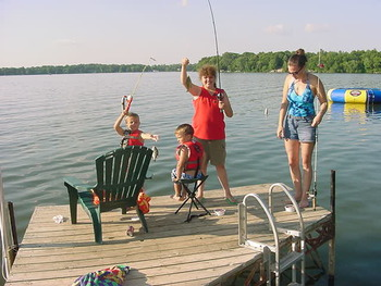 Fishing at Island View Resort on Nest Lake.