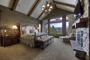 Rental bedroom at Big Sky Luxury Rentals.