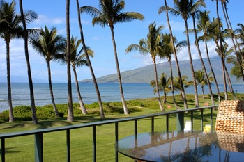 Balcony view at Hale Kai O Kihei.