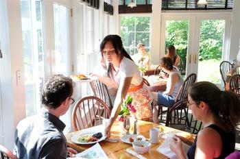 Dining at Buttermilk Falls Inn & Spa.